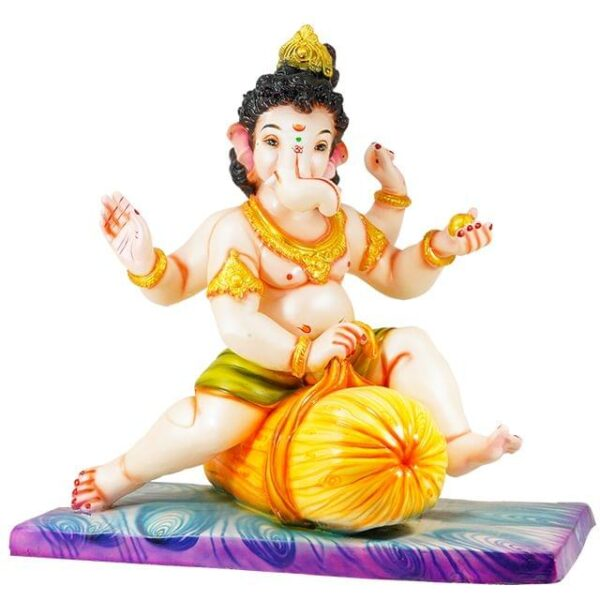 Bal Ganesh on Pillow 20 Inch Shadu Murti